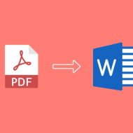 Easy Way To Convert Pdf to word